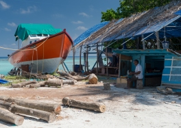 Boat yard in local island