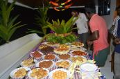 Maldivian food buffet
