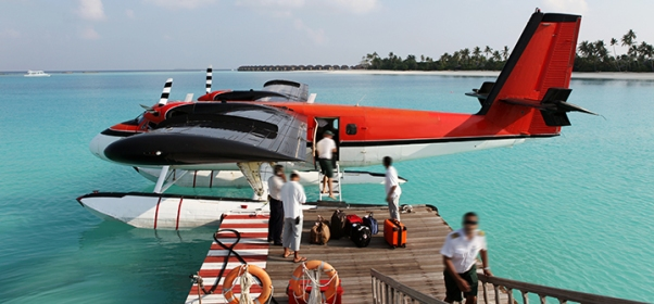 seaplane boarding deck